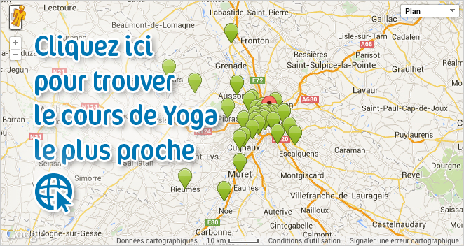Trouvez le cours de Yoga le plus proche par géolocalisation